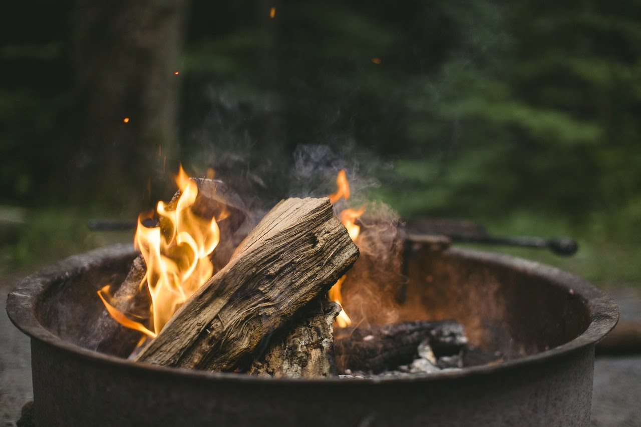 Campfire in a firepit
