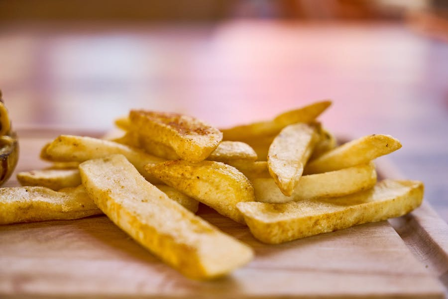 Seasoned french fry wedges