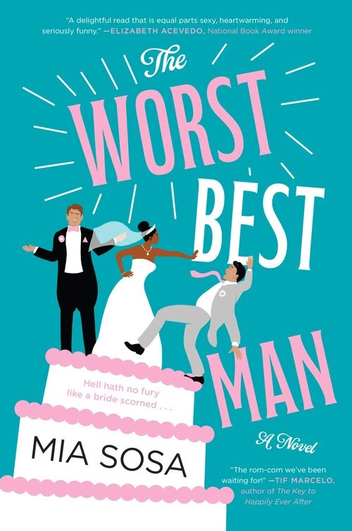 The worst best man cover looks like a cake topper with conflict, passion, and love all in the mix.