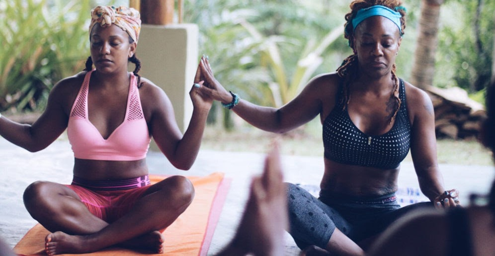 When you navigate codependency , you may try to isolate yourself. Try to find your village behind you to support you like these two ladies participating in yoga together.