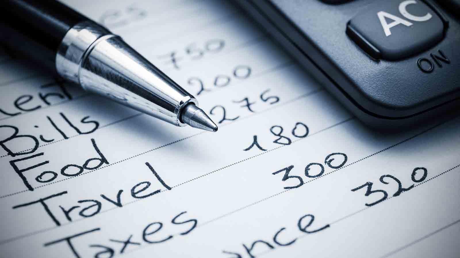 Budgeting list
