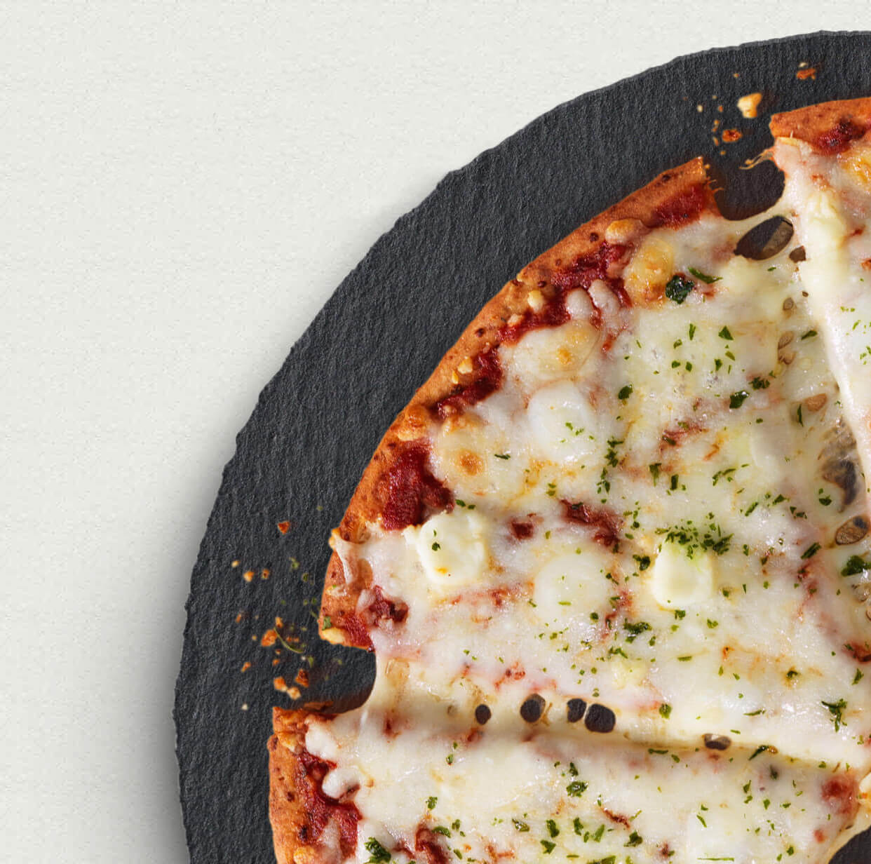 Photo of three slices of cheese pizza