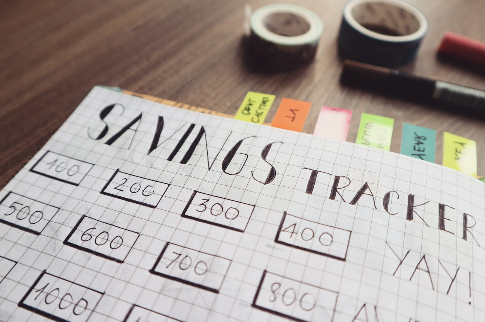 Simple do it yourself monthly budget tracker