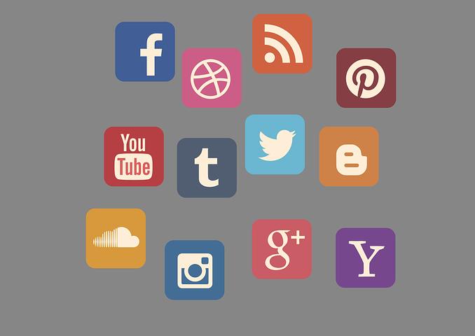 most popular social media platform icons