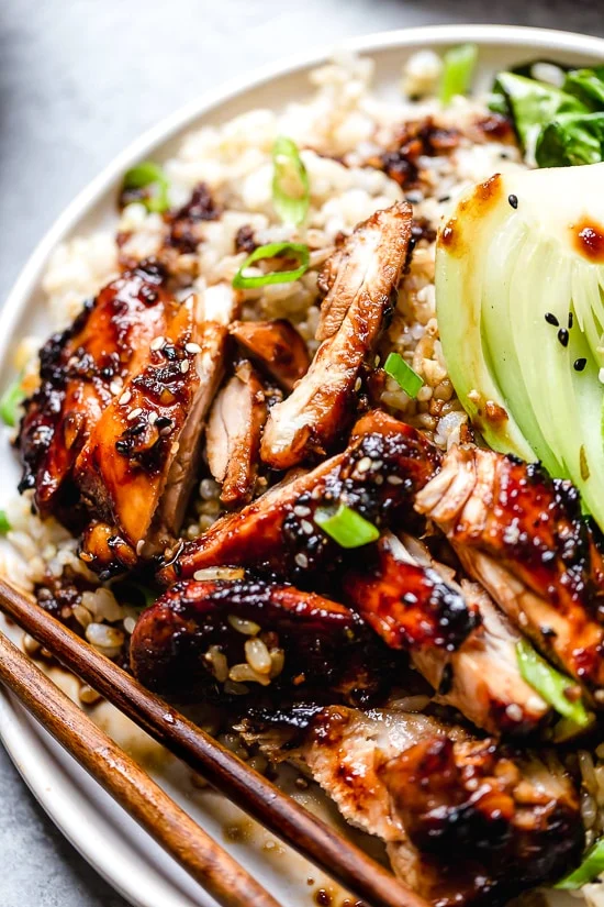 Asian glazed chicken straight out of the air fryer