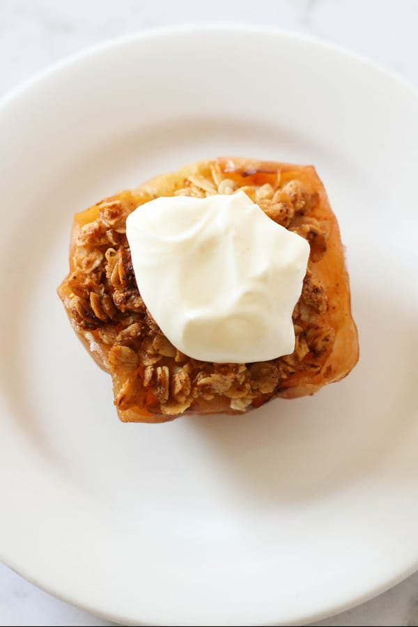 Tasty baked apple crisp in the air fryer