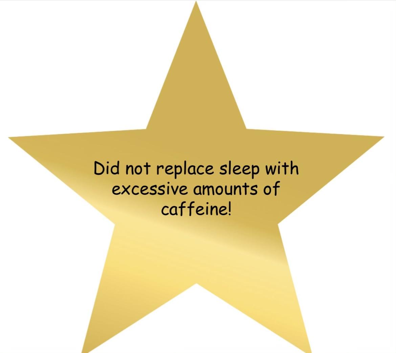 adulting award for choosing sleep over excessive caffeine