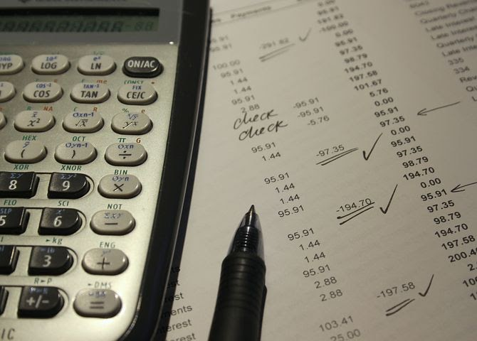 a calculator and document to be used for filing taxes