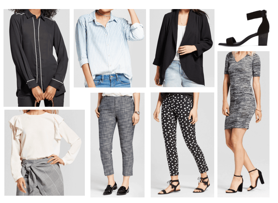 examples of business casual attire that you can buy at Target