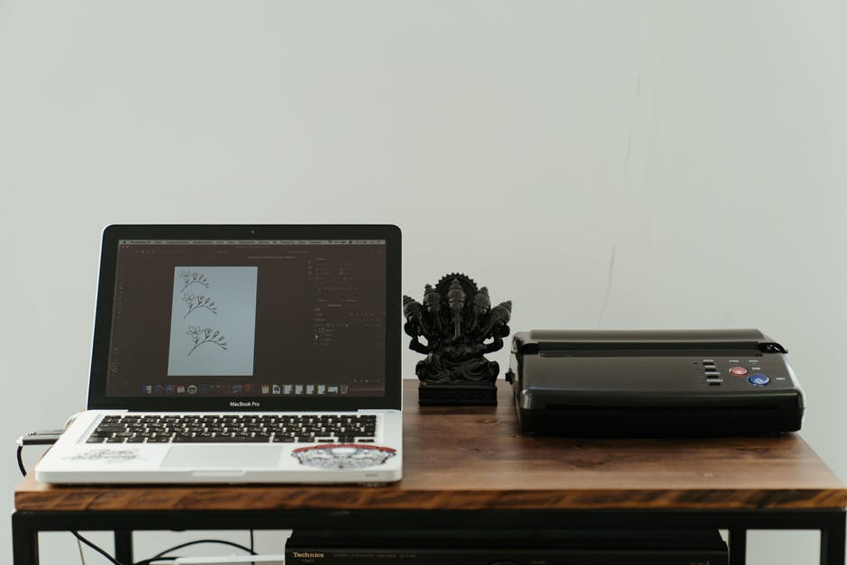 A printer set up using a device driver