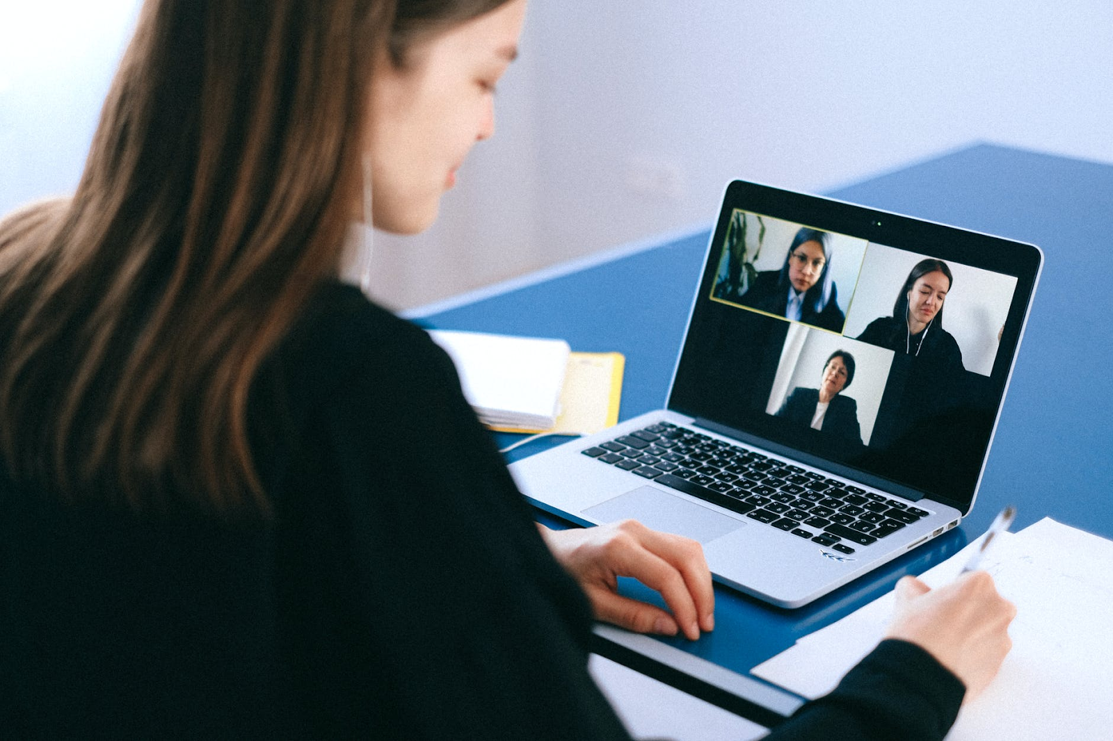 Using skype or teams is a valuable way to communicate with team members