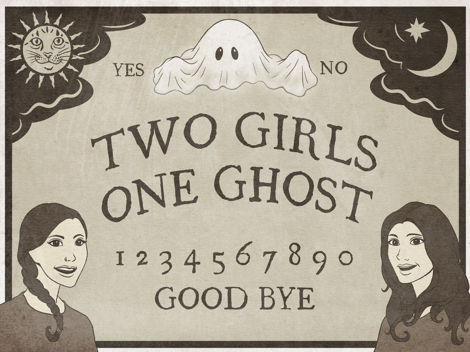 Two Girls One Ghost podcast cover art