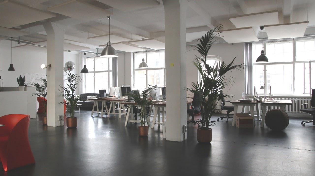 a modern office space