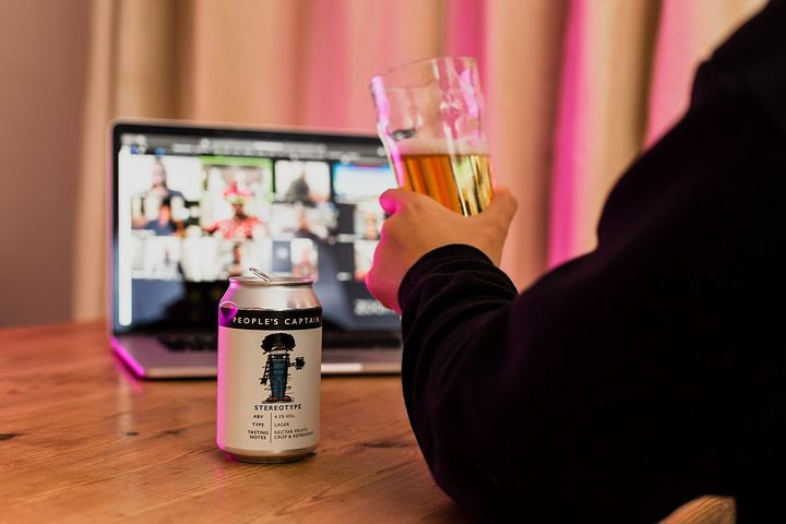 a professional joins a virtual happy hour