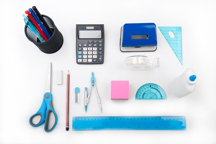 an array of at home office supplies