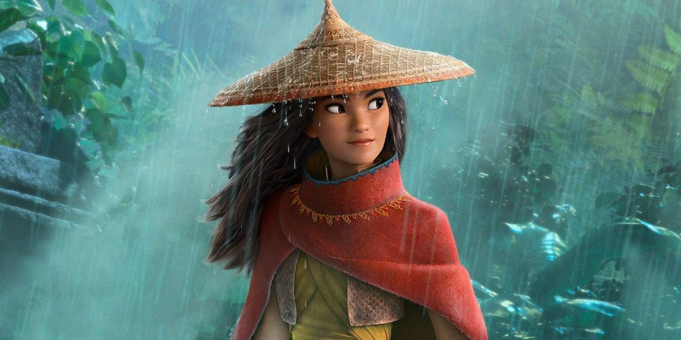 he newest Disney heroine, Raya, voiced by Kelly Marie Tran, from Raya and the Last Dragon.