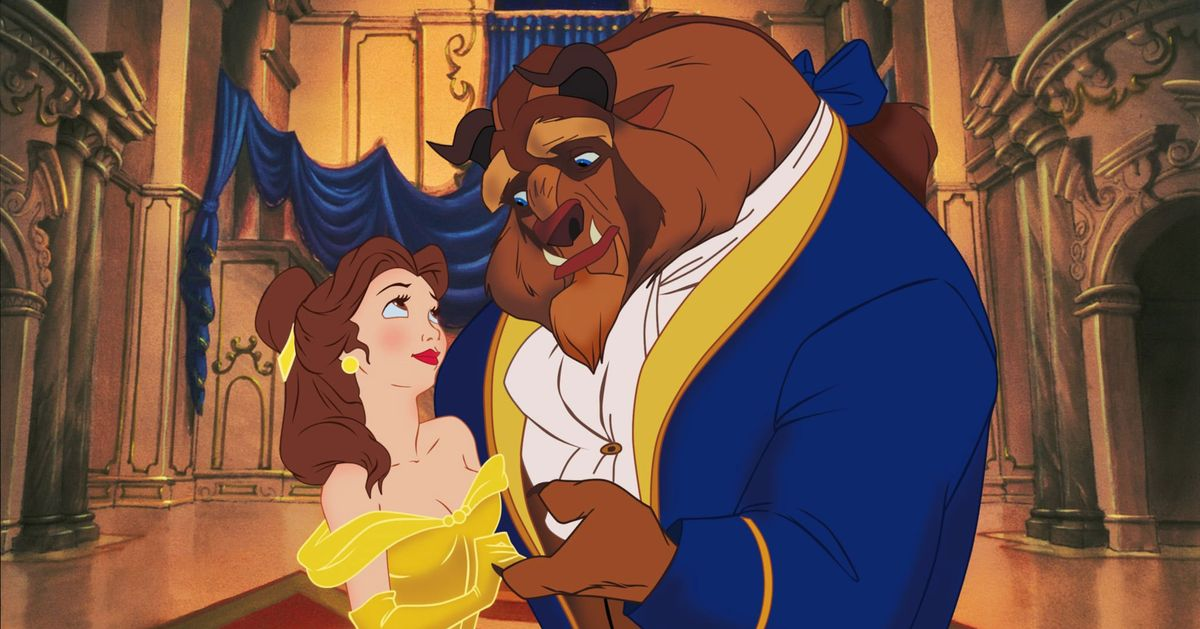 Belle and the Beast from Disney's 1991 film Beauty and the Beast.