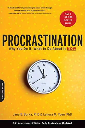 """The cover of Jane B. Burka and Lenora M. Yuen's book """"Procrastination."""""""