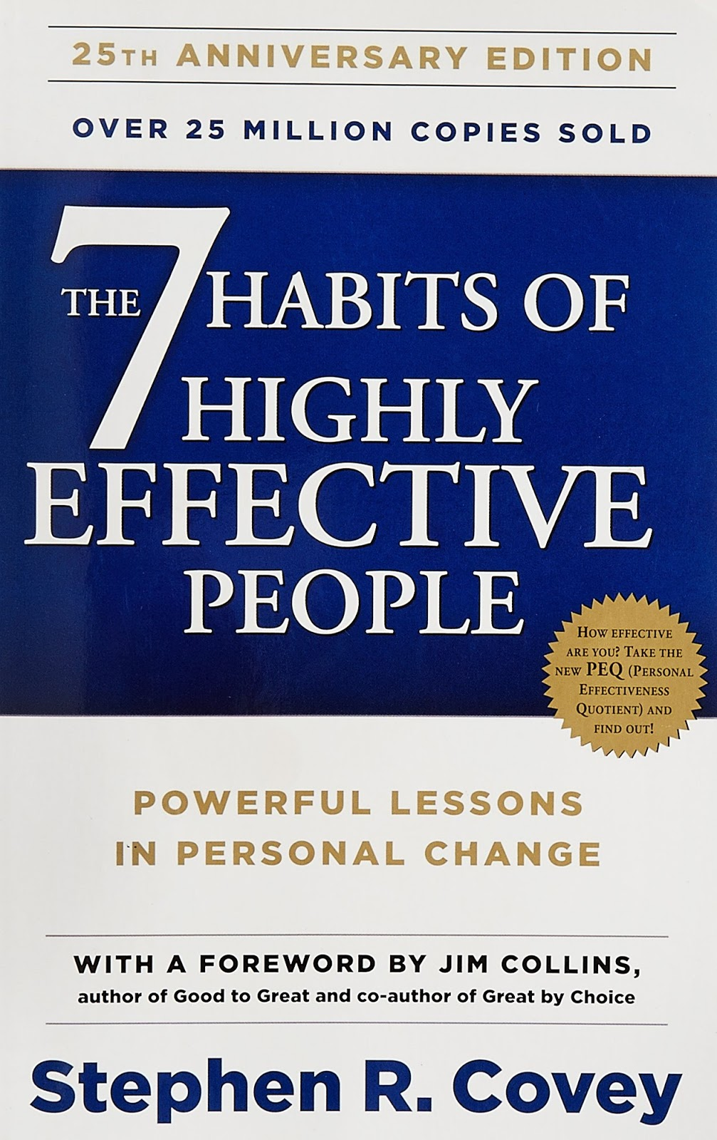 """The cover of Stephen Covey's book """"The 7 Habits of Highly Effective People."""""""