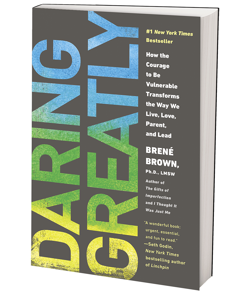 """The cover of Brené Brown's book """"Daring Greatly."""""""