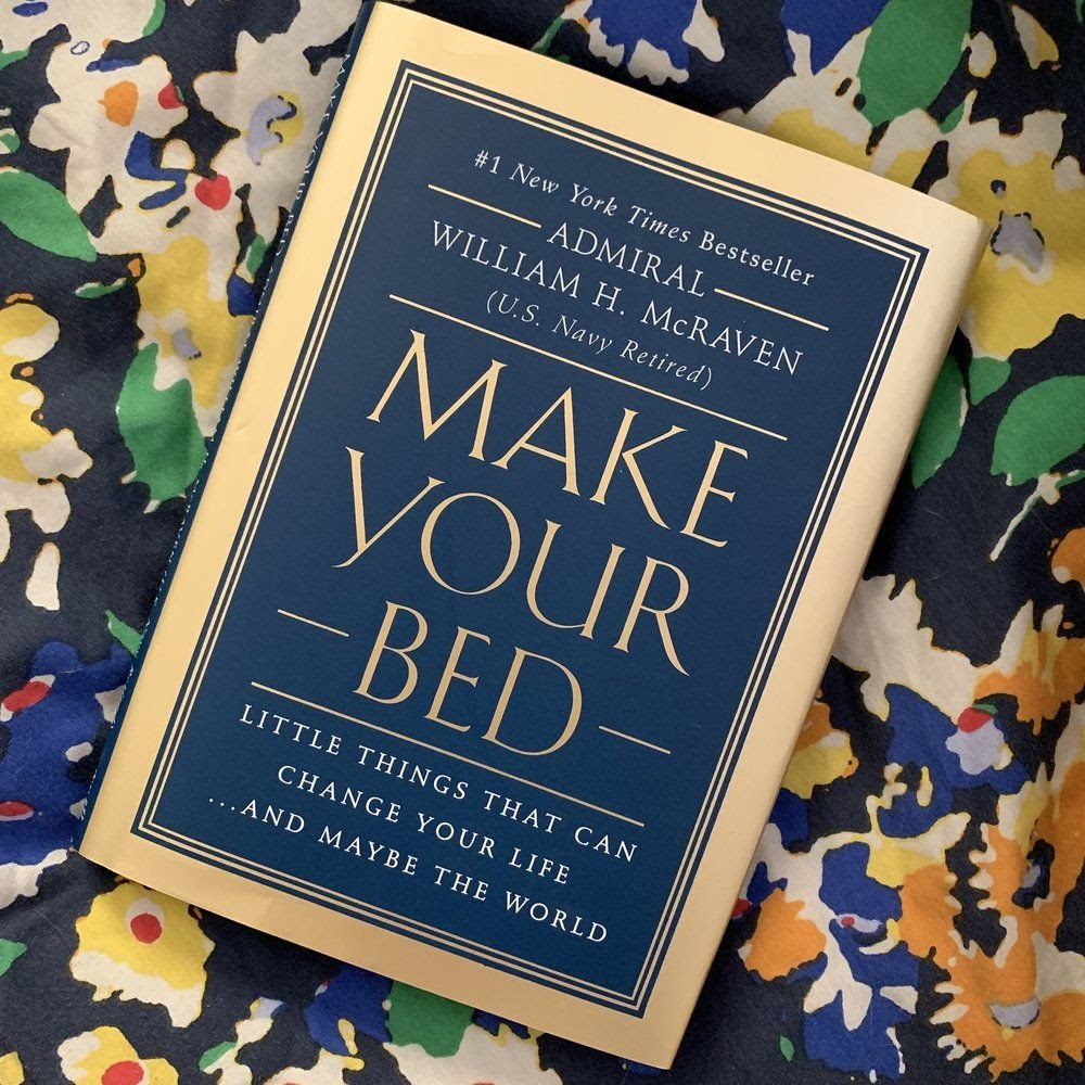 """The cover of Admiral William H. McRaven's book """"Make Your Bed"""""""