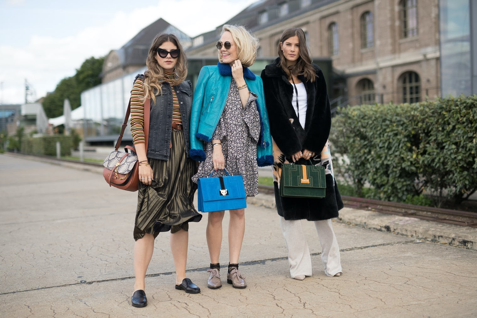 three professional women hang out together
