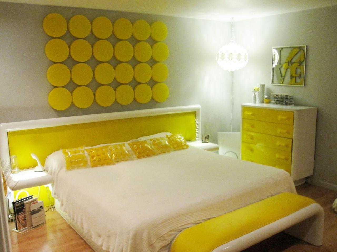 Yellow themed room.