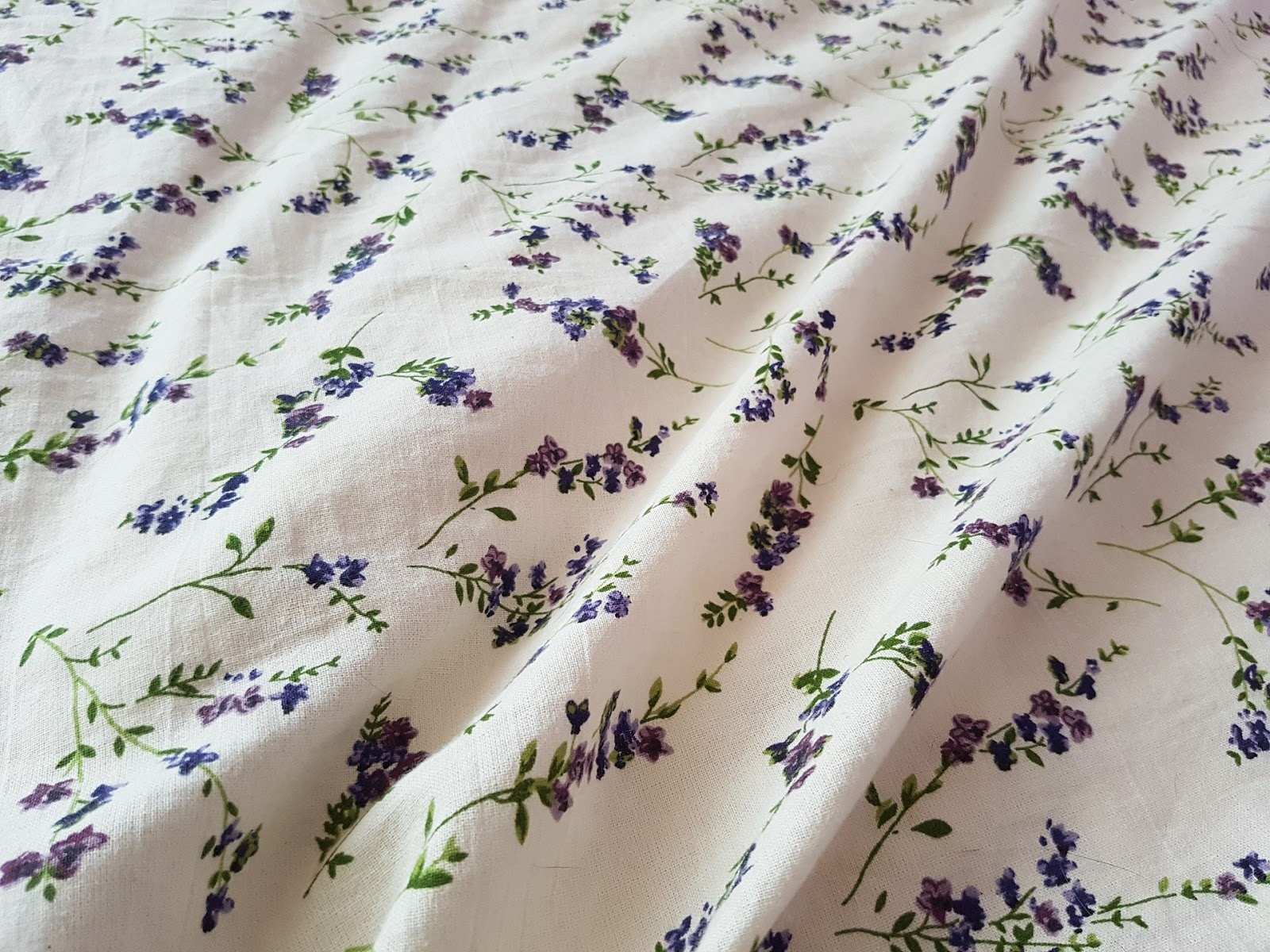 Floral themed sheets.