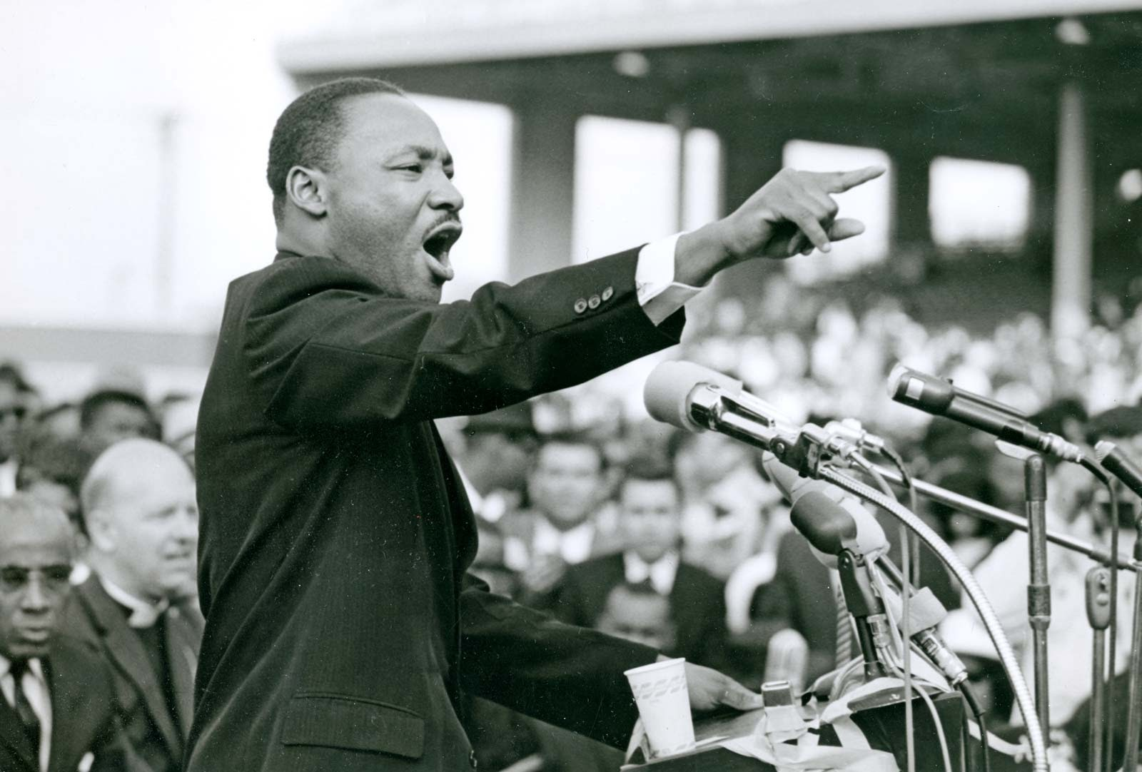 """Dr. Martin Luther King Jr. delivers his famous """"I Have A Dream"""" speech."""