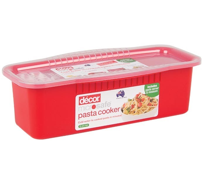 A pasta cooker that college students can use when they only have a microwave.