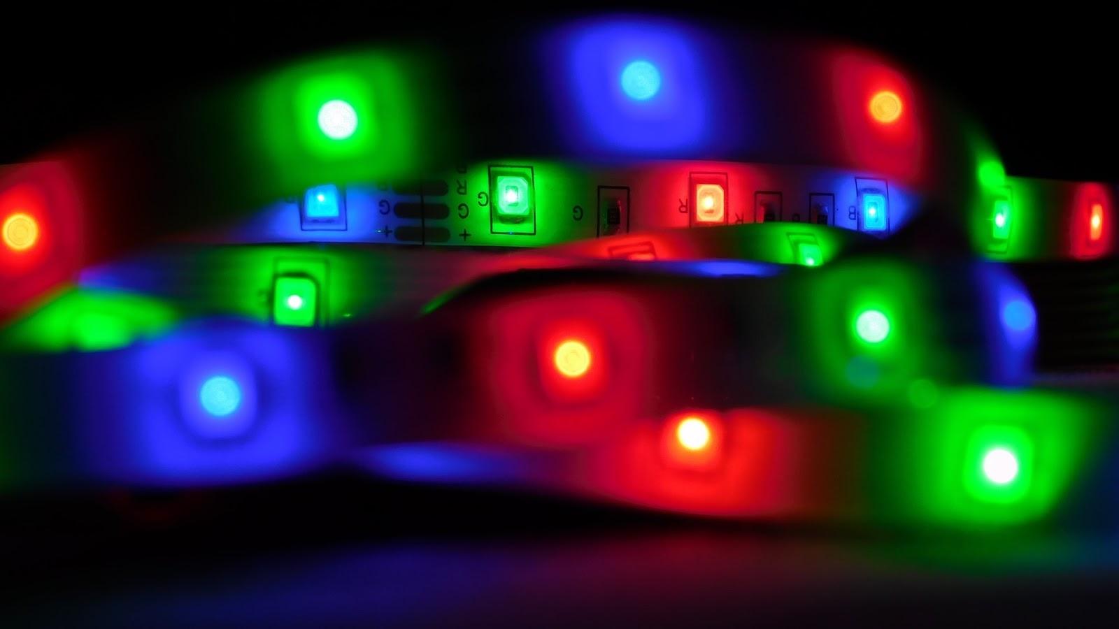 A string of LED lights.