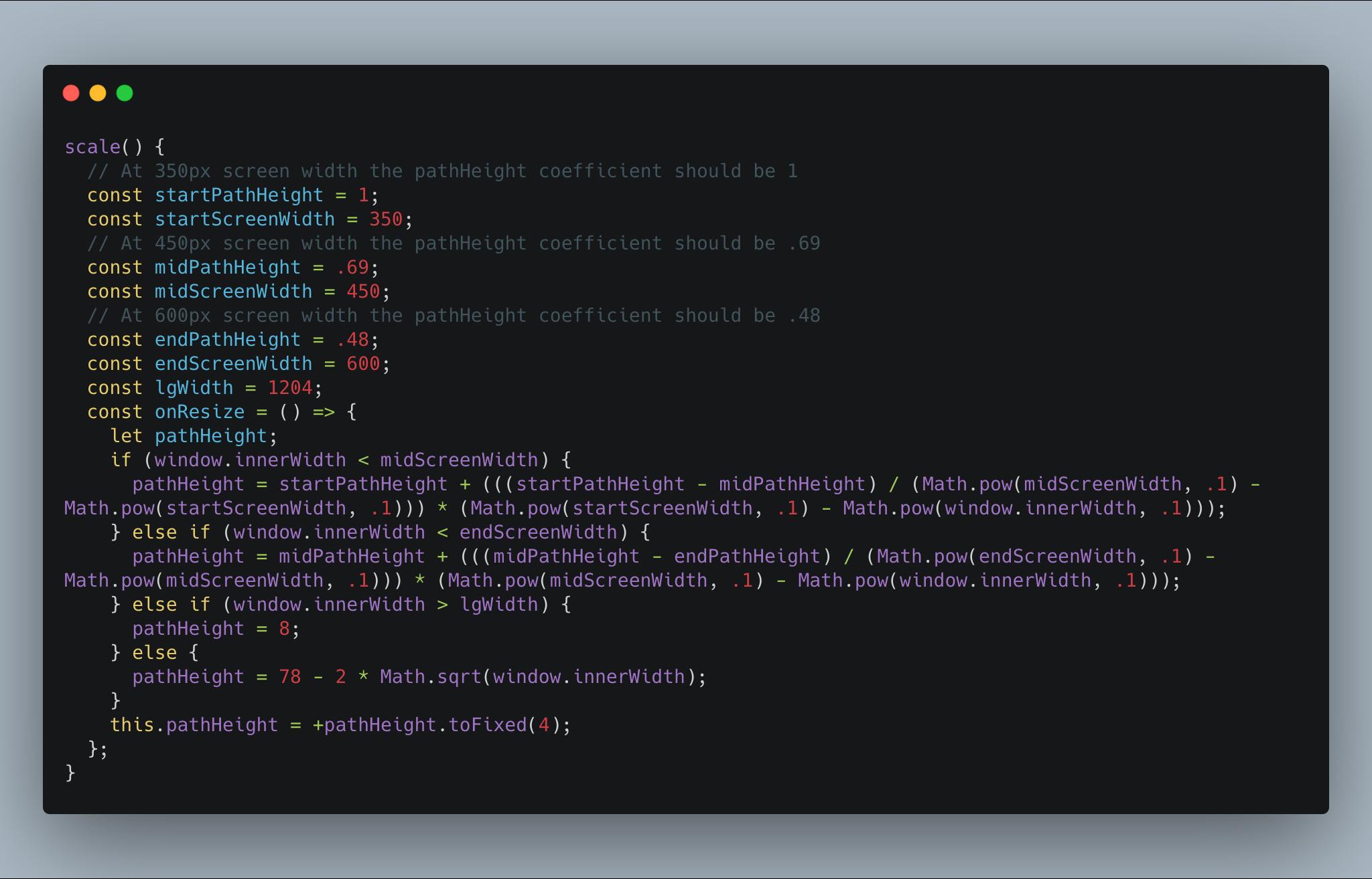 Responsive SVG JavaScript code
