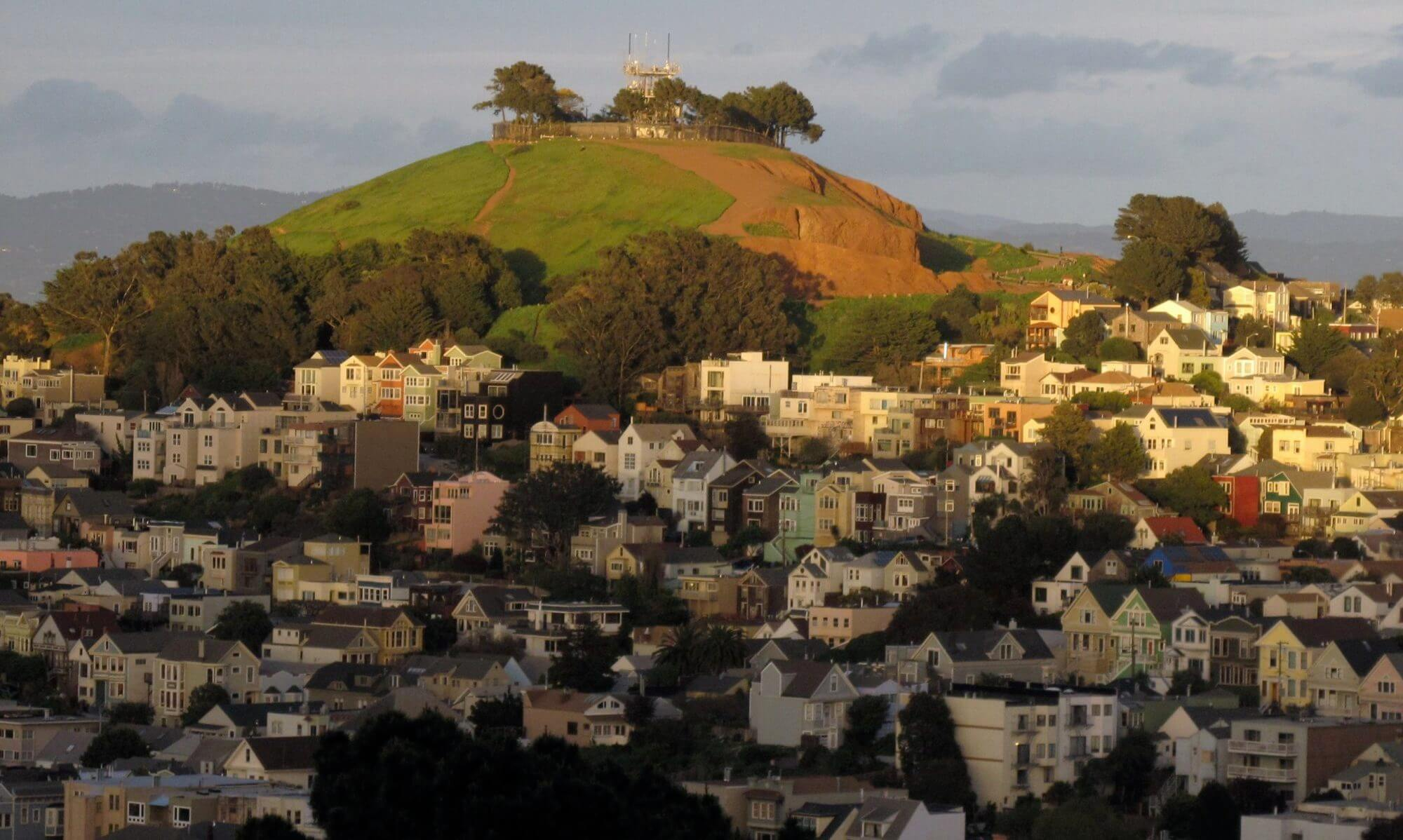 Bernal heights hill and neighborhood