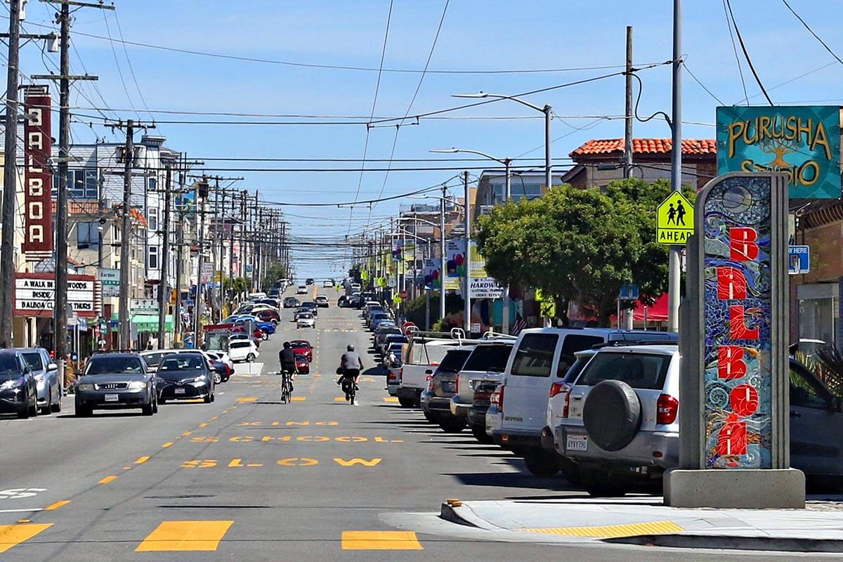 Balboa Street in Outer Richmond