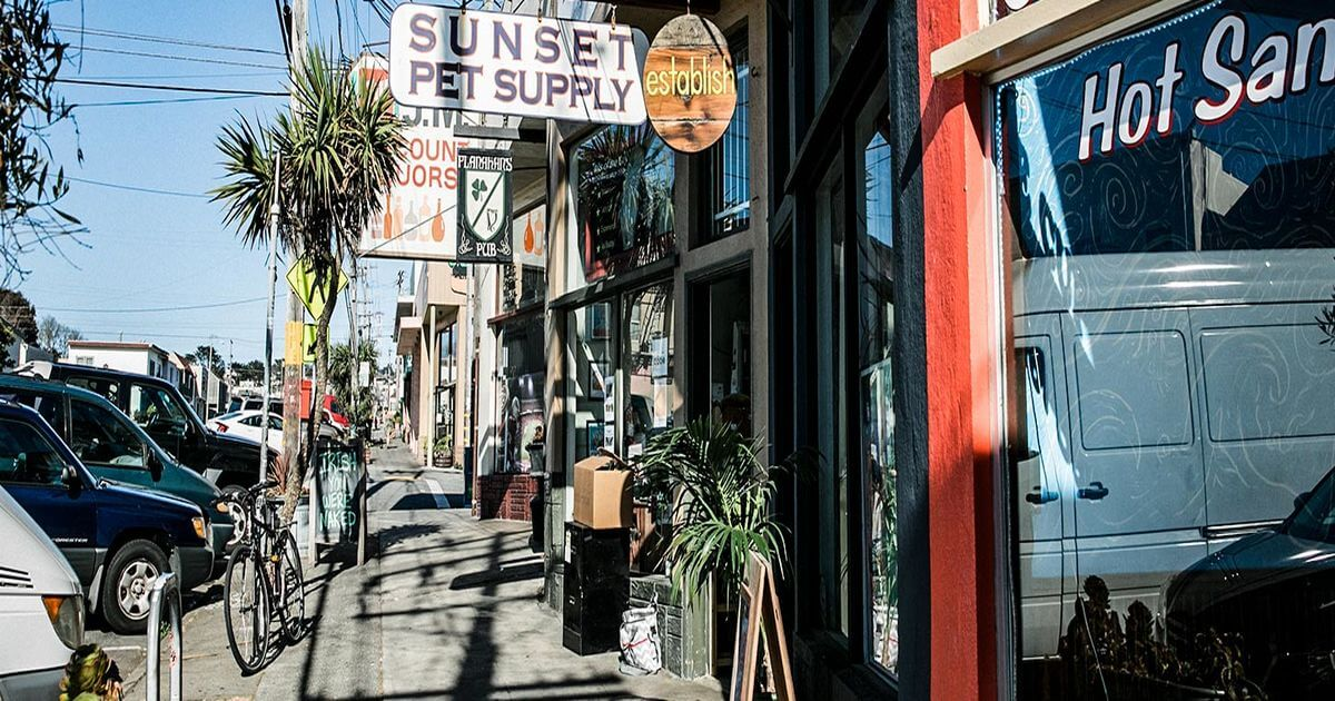 Shops in Outer Sunset