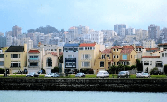 Side-by-side homes in The Marina