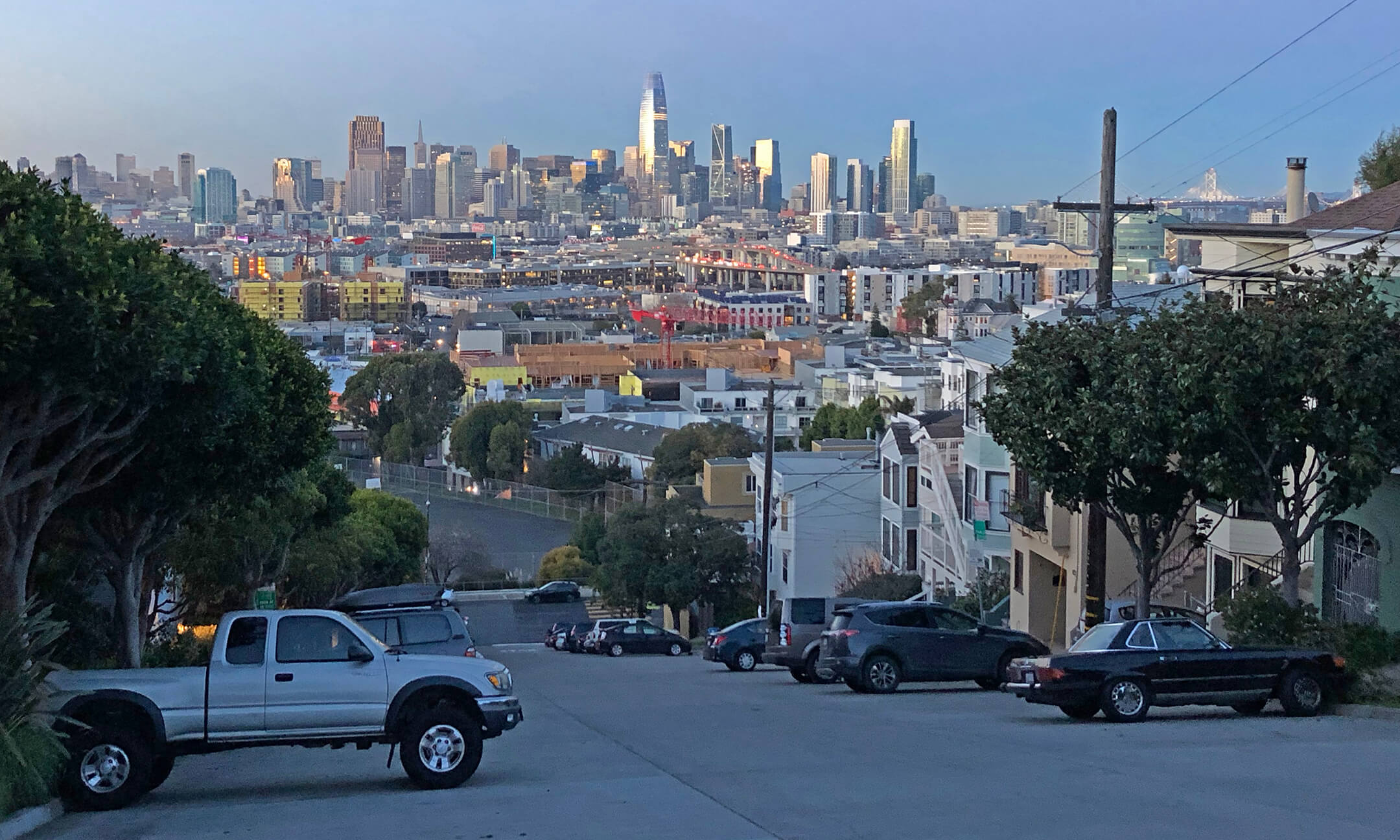 View of downtown San Francisco from Potrero Hill
