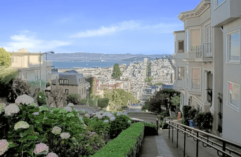 Top of Lombard Street in Russian Hill