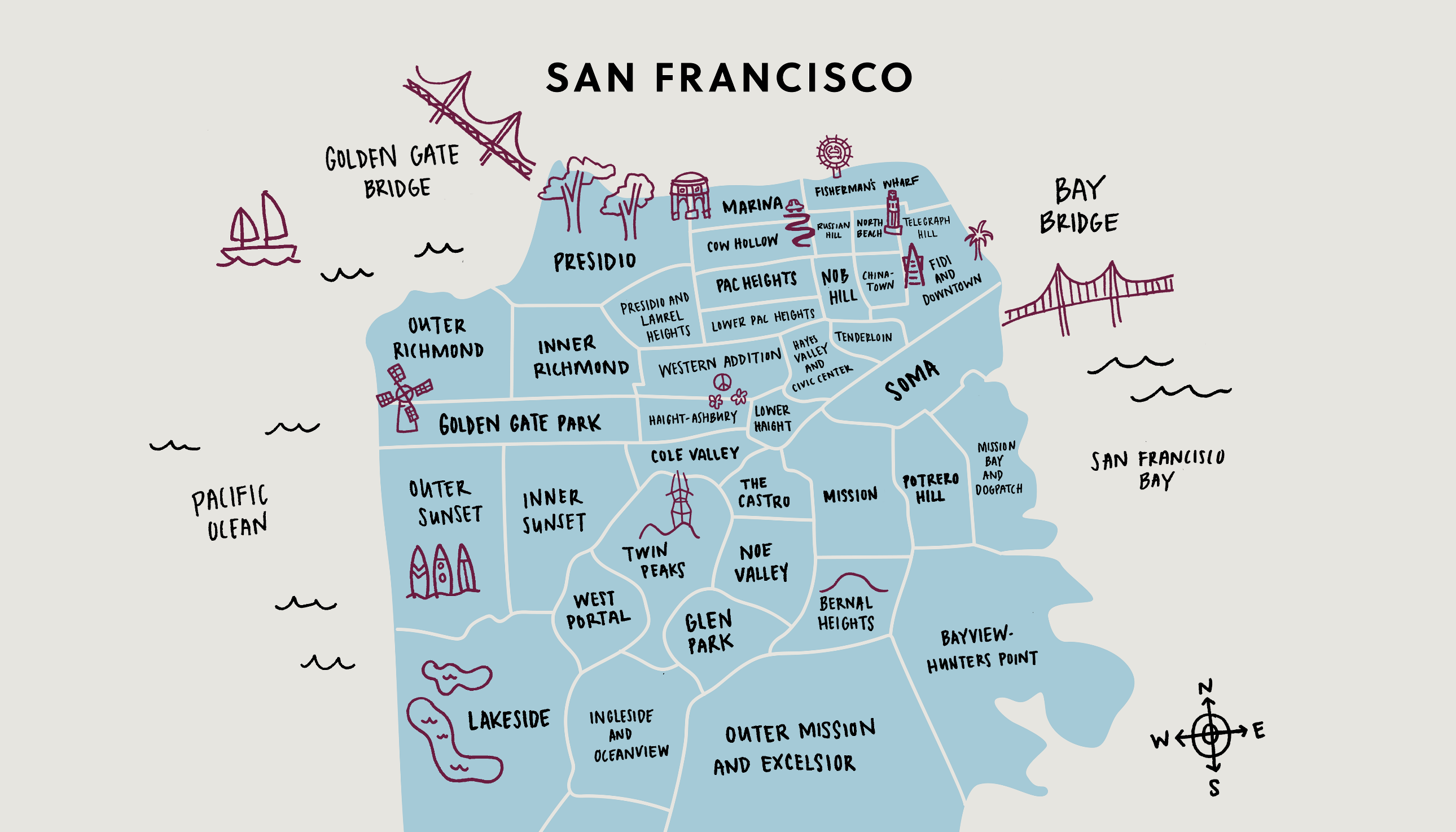 A Guide to the Neighborhoods of San Francisco