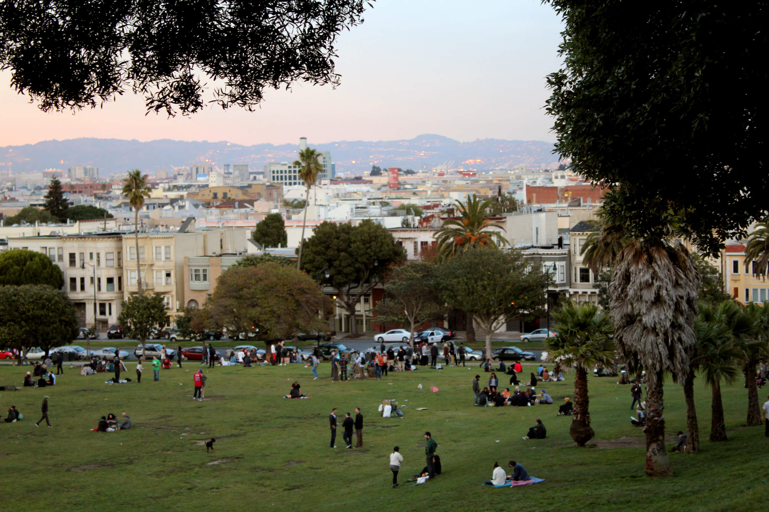 Dolores Park in San Francisco Mission District