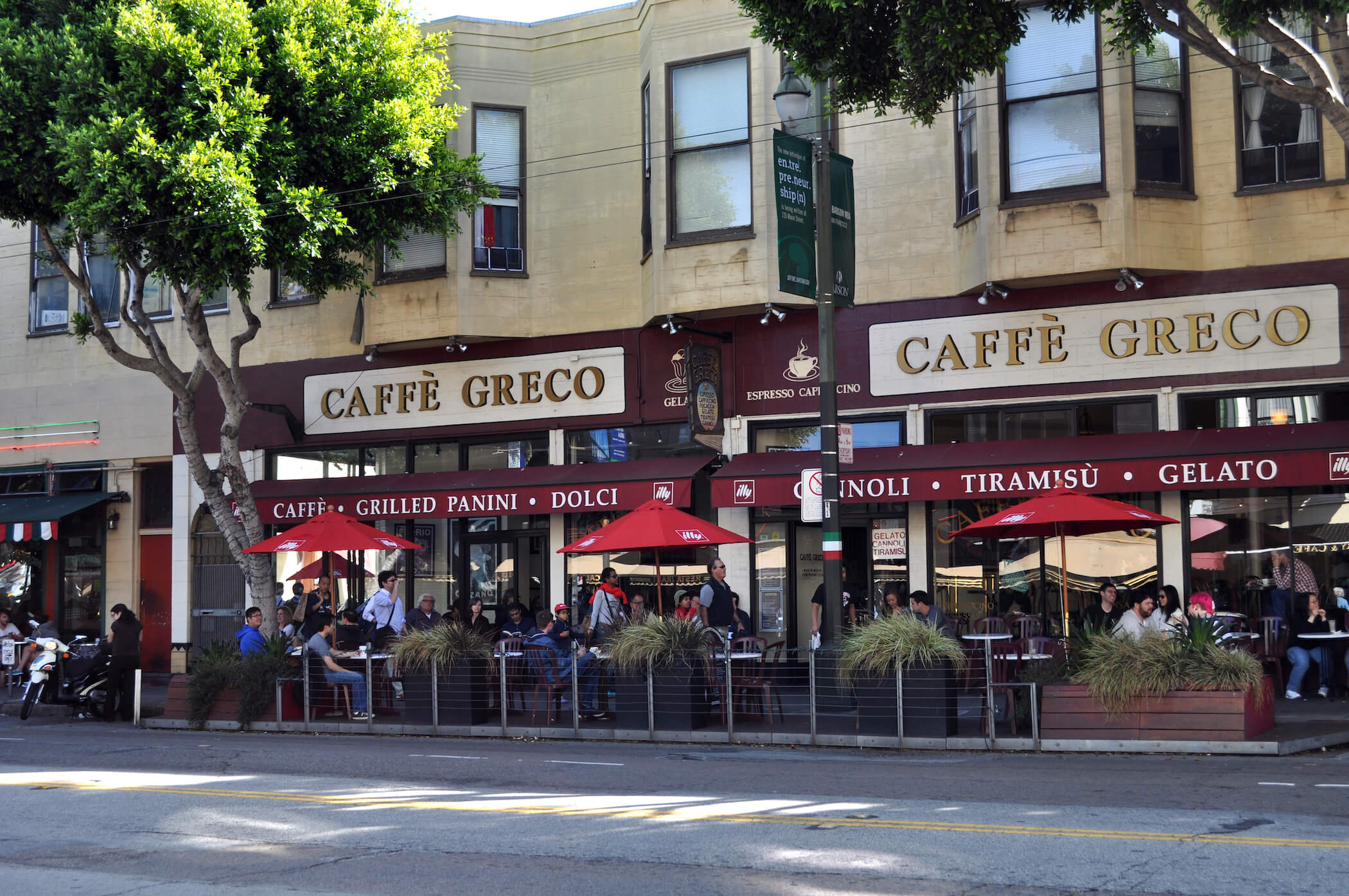 Caffe Greco in North Beach San Francisco