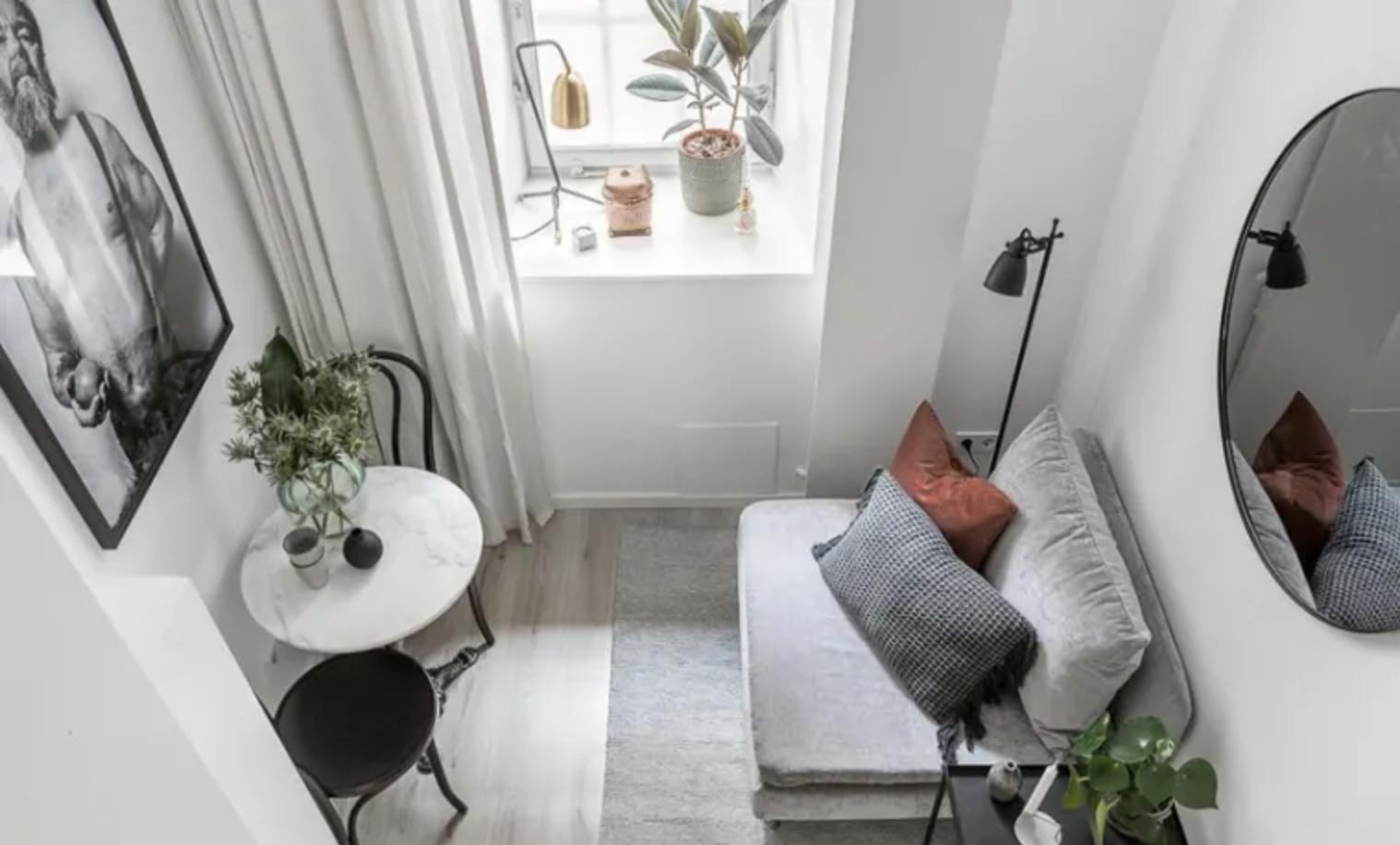 Stylish efficiency apartment interior
