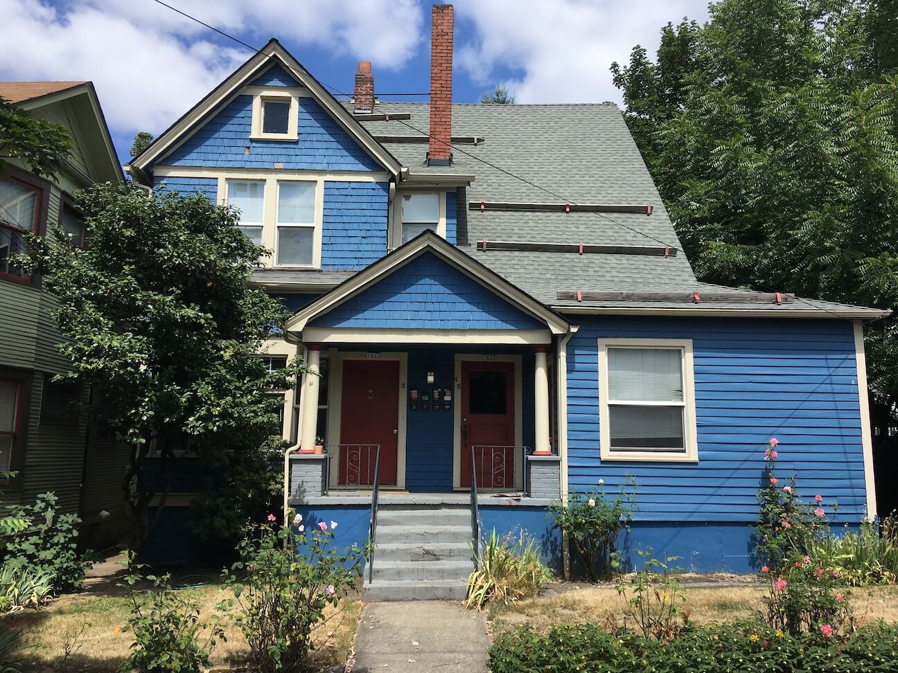 Rented out blue duplex