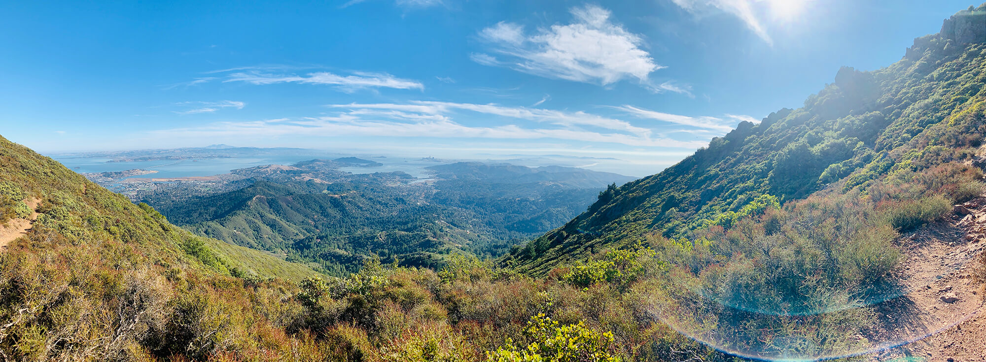 Panorama from the top of Mount Tamalpais