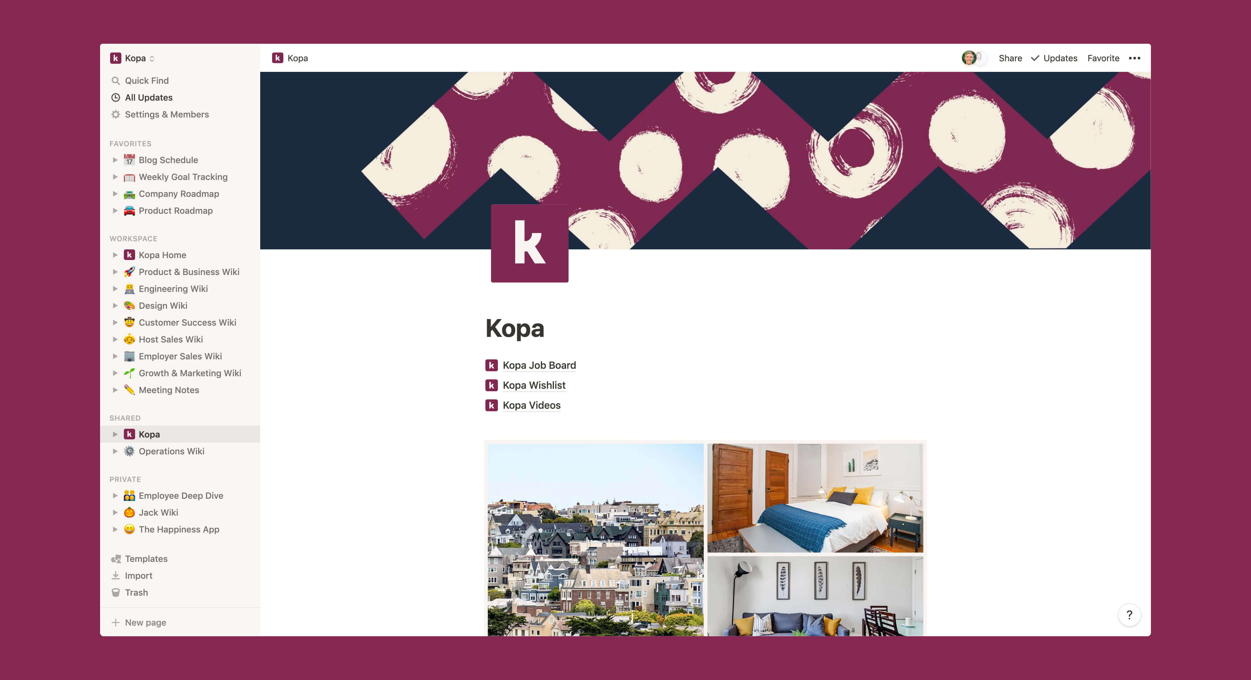 Kopa public wiki Notion template