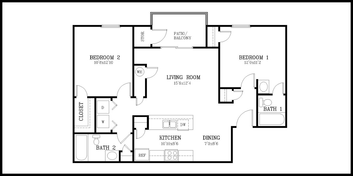 an apartment layout