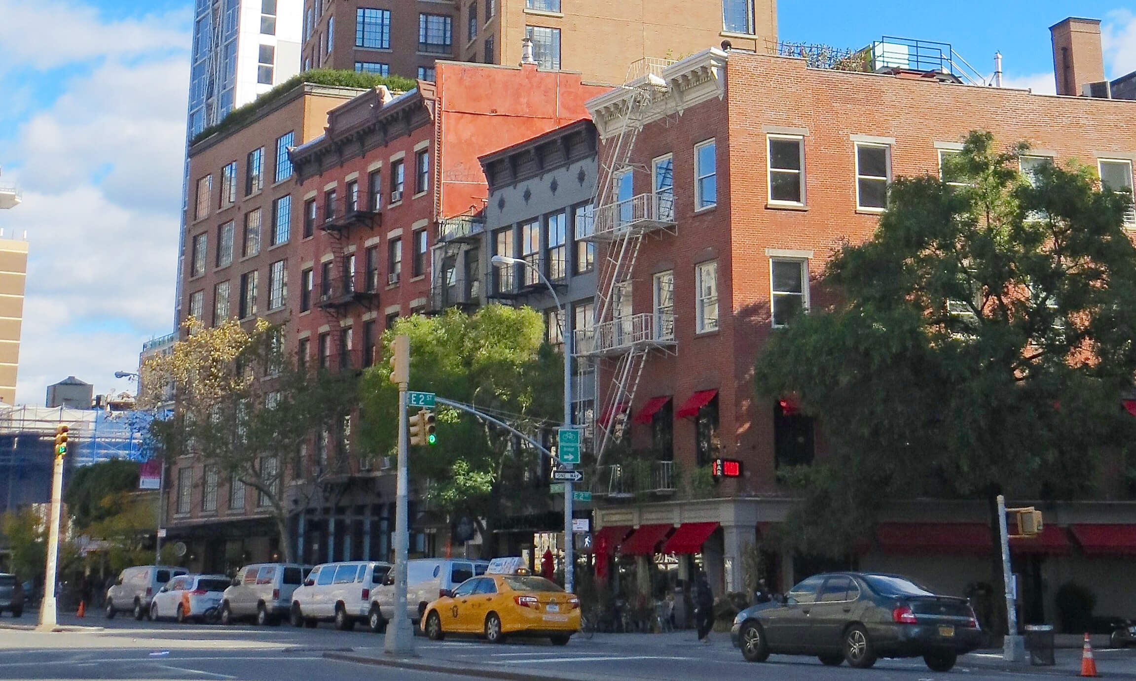 Bowery apartment buildings