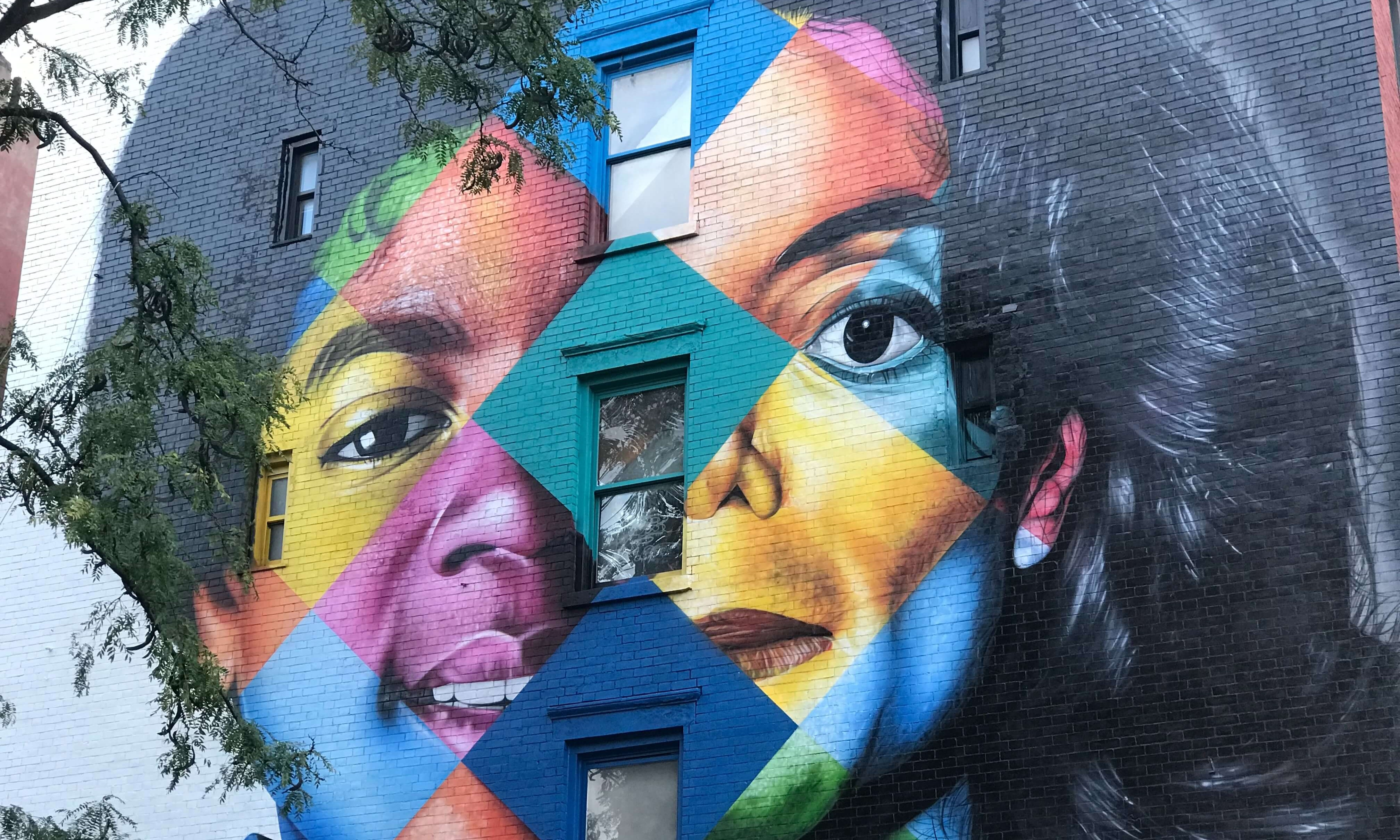 East Village face mural