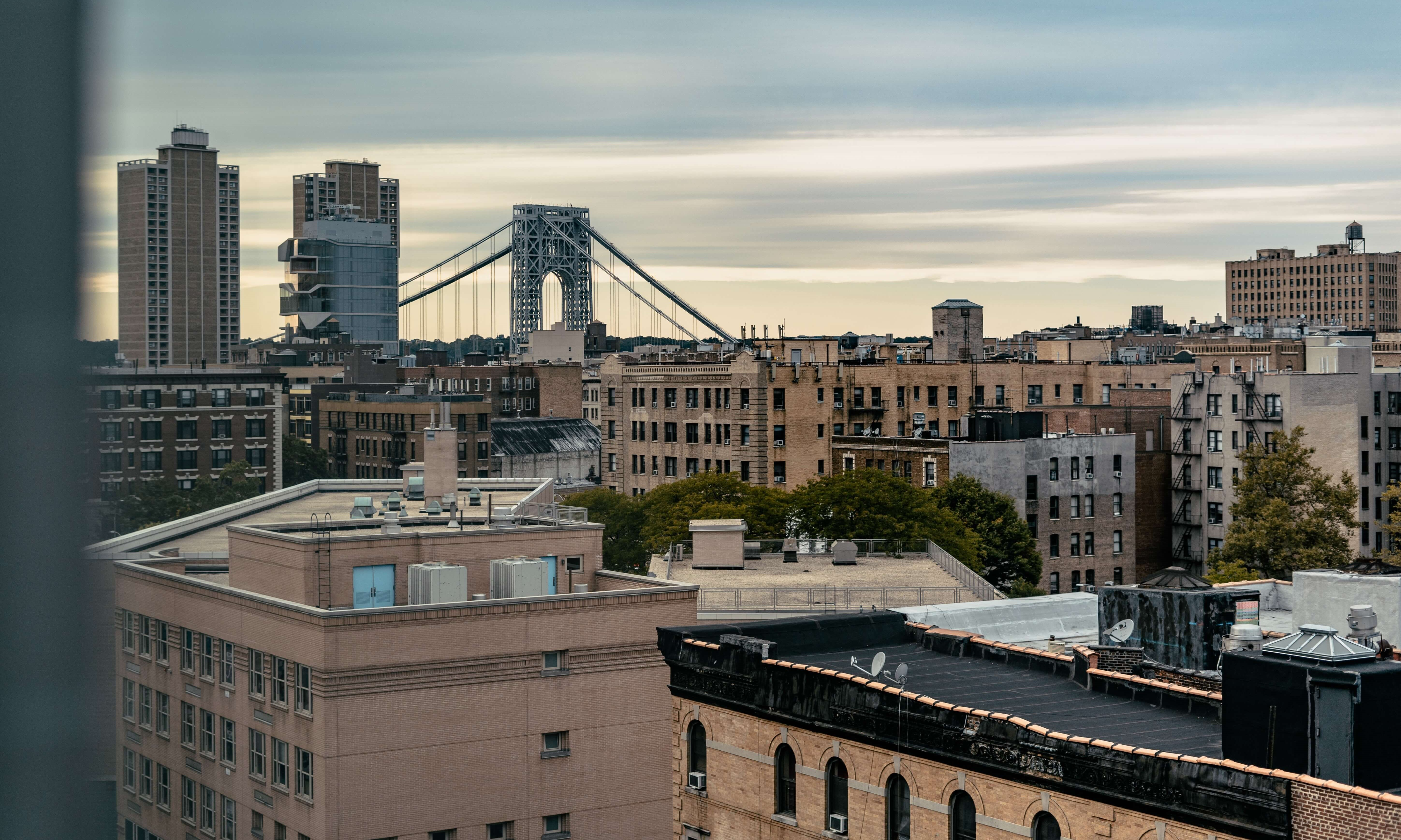 View of the bridge from Washington Heights