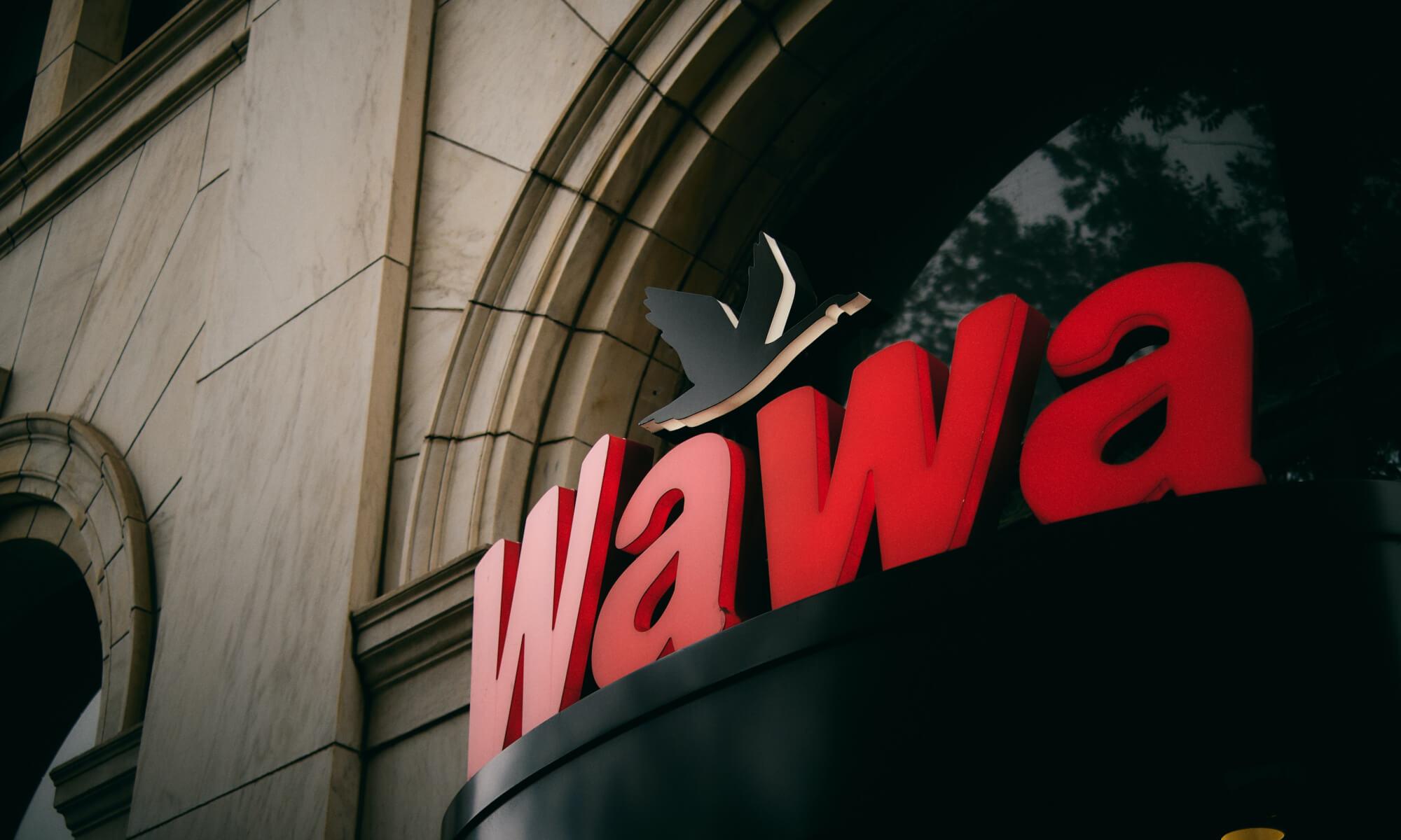 Exterior of Wawa